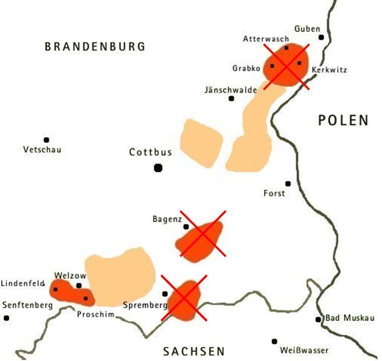 Lausitz Karte.Braunkohle In Der Lausitz